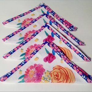4 Anthropologie Paint  Petals By Bridgette Napkins